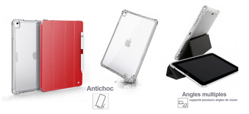 Ibroz Smart Cover rouge pour iPad mini (Gen 5)